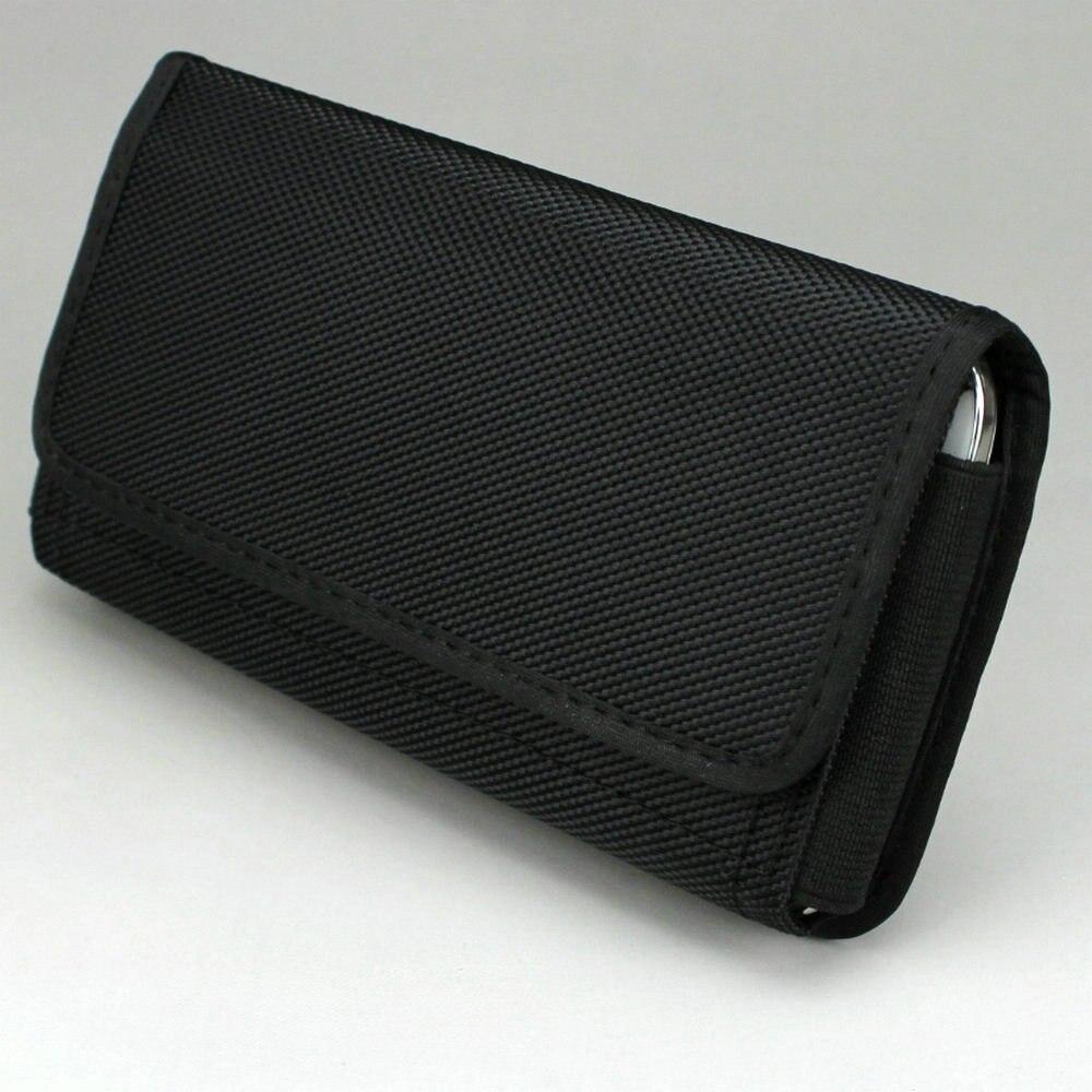 Горизонтальные нейлон Чехол талии сумка кобура с зажимом пояса/петля для сотовый телефон под 6.3 дюймов
