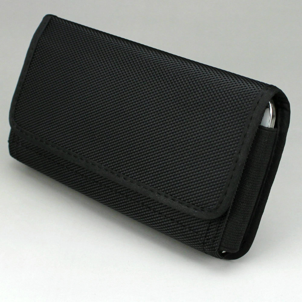 Caso Bolsa de Nylon Da Cintura Saco Coldre com Clipe para Cinto Horizontal/Loop para Telefone Celular com menos de 6.3 polegada