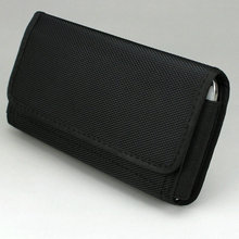 Horizontal Nylon Pouch Case Waist Bag Holster with Belt Clip/Loop for Cell Phone under 6.3 inch