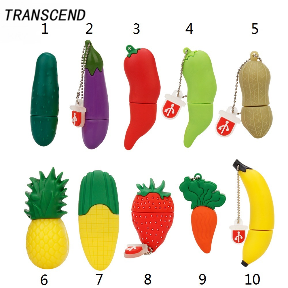 Transcend cartoon model vegetables and fruit high speed USB3.0 flash pen driver 4GB 8GB 16GB 32GB 64GB actual capacity U disk ...