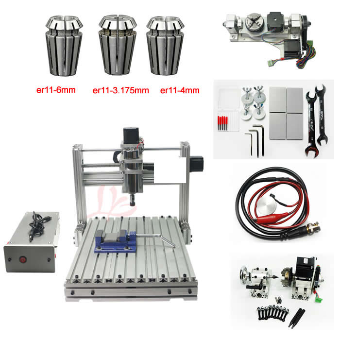 цена на 5 Axis 3040 CNC engraving milling machine USB Port Desktop Ball Screw 4axis CNC Router