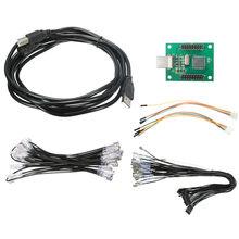 Adaptador de 2 Jugadores Joystick Arcade al Controlador USB Cable Conector de Cableado Kit Para Codificador Codificador de Teclado Placa Arcade MAME