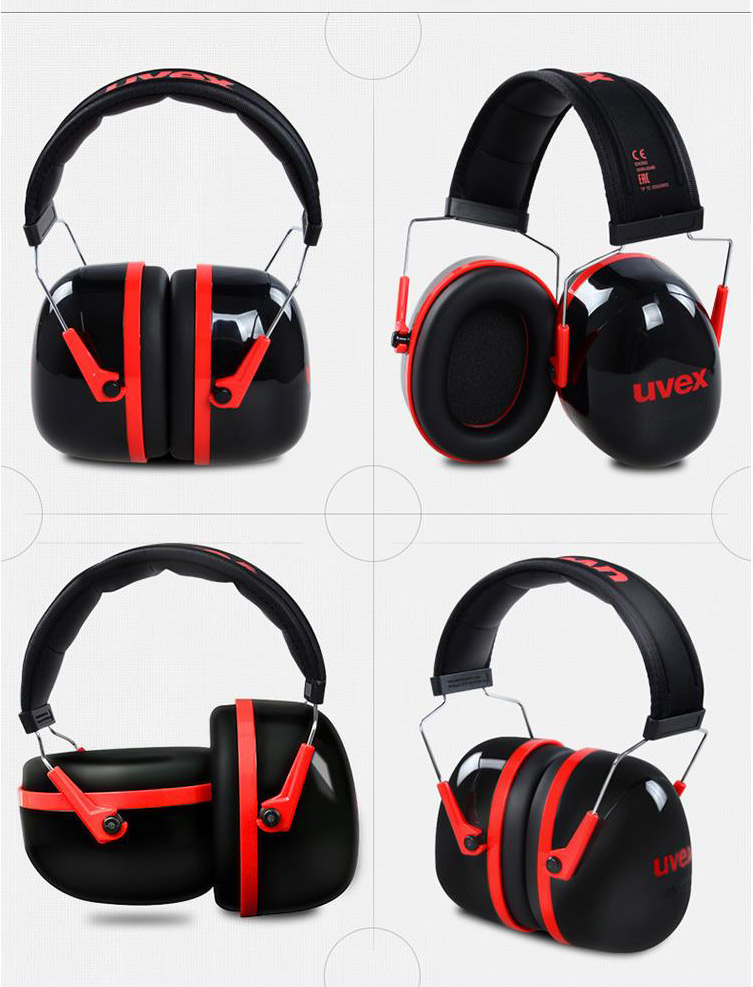 UVEX Anti-noise Earmuffs Protective Professional Ear Protector Sound Insulation Noise Reduction Hearing Protection Ear muffs (6)