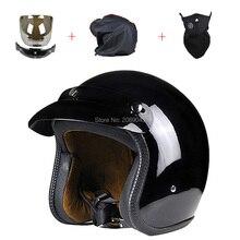 Новое винтаж бесплатная , чтобы отправить три подарок мотоциклетный шлем для Harley открытым лицом ретро половиной шлемы мото Capacete каско шлем