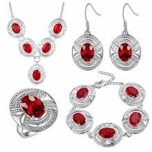 Thick silver jewelry set of foreign trade accessories, beautiful foreign trade jewelry wholesale Ruby fashion set платье foreign trade 2014