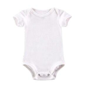 Image 3 - 5 개/몫 아기 Bodysuits 신생아 옷 몸 Bebe 짧은 소매 흰색 여름 브랜드 새로운 유아 Jumpsuit 아기 소녀 소년 옷