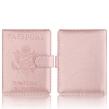 Luxury Leather Passport Cover for Men Women Travel Passport Holder Case Travel Document Cover RFID Card Holders Wallet new pu leather passport cover holder women men travel credit card holder travel id card document passport holder