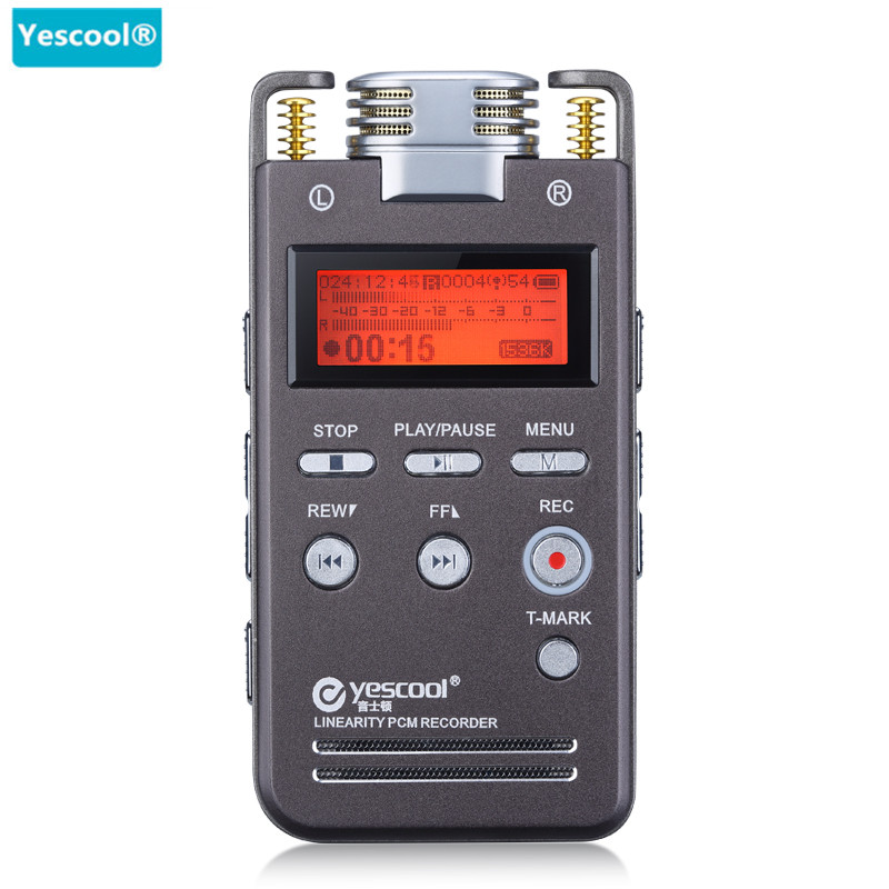 цена на Yescool A5 8GB Metal mini Voice Recorder Professional Portable Digital Audio Dictaphone Meeting Class With WAV,MP3 Player
