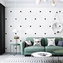 Nordic style wallpaper ins modern minimalist geometry black white polka dot pattern living room bedroom TV background