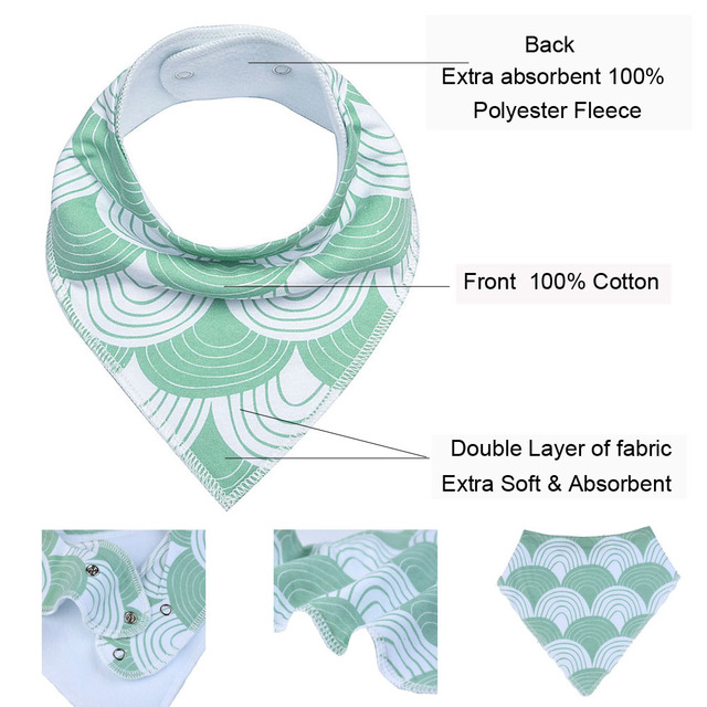 Baby Bandana Drool Bibs Unisex 8-Pack Gift Set for Drooling and Teething Organic Cotton Soft and Absorbent Hypoallergenic Bibs Accessories Infant (3-12 months) Regular Bibs & Bandanas Shop by Age Toddler (1-3 years)