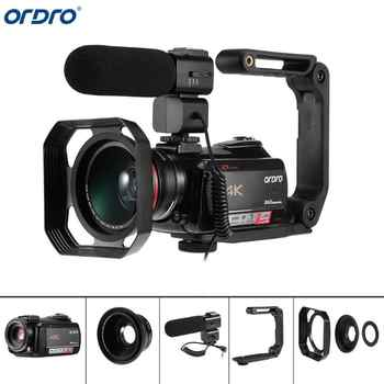Ordro AC5 4K UHD Digital Video Cameras Camcorders Zoom 12X FHD 24MP WiFi IPS Touch Screen Digtal Optical DV Mini Camcorders - DISCOUNT ITEM  26% OFF All Category