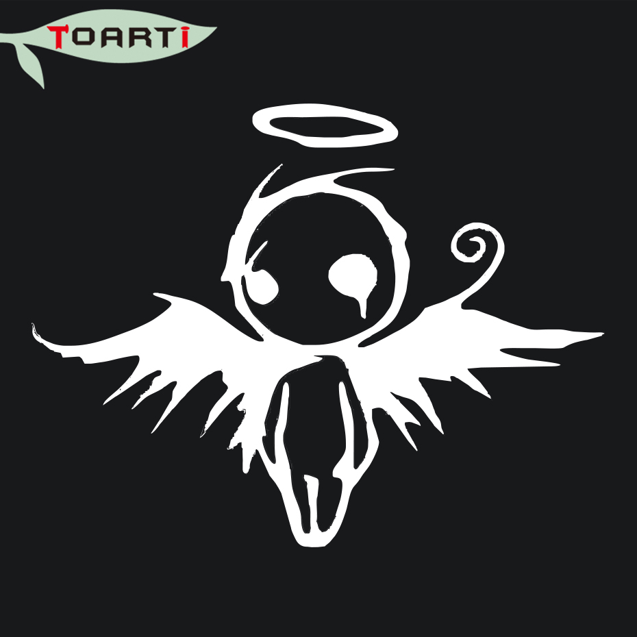 Creative design gothic dark fallen angel of death vinyl decal car styling motorcycle window bumper sticker black white