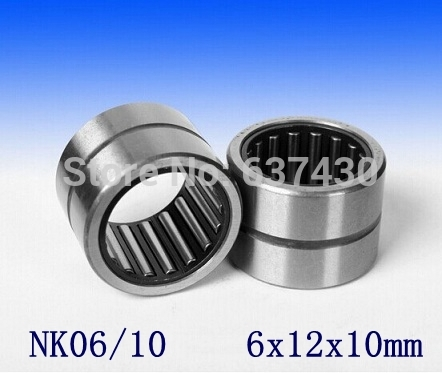 50pcs lot NK06 10 NK6 10 6x12x10 miniature needle roller bearing without inner ring 6x12x10 mm