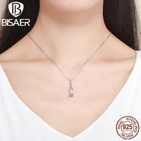 Authentic 100 925 Sterling Silver Our Love Sweethome Big House Pendants S925 Chain Necklaces For Women
