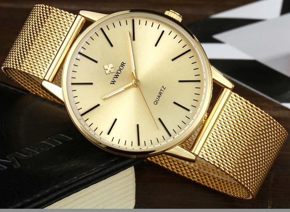 WWOOR 2019  Mens Watches Top Brand Luxury Gold Men\'s Minimalist Wrist Watches Ultra Thin Gift Watch For Men relogio masculino (4)