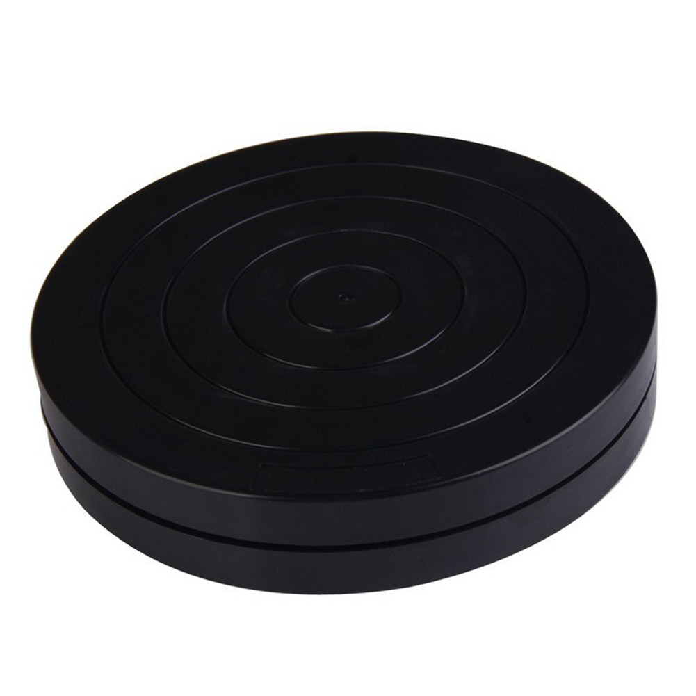 Practical 18cm Black Plastic Turntable Multi-purpose Pottery Clay Sculpture Tools 360 Flexible Rotation  P7Ding