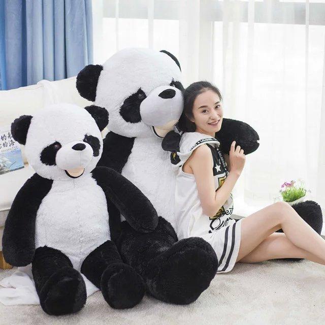 HOT 130cm plush panda Plush Toys large animial Stuffed plush Panda font b Doll b font