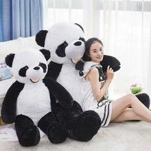 Hot 130 cm en peluche Panda jouets en peluche grande animial peluche Panda poupée cadeaux d'anniversaire cadeaux de noël en peluche jouets poupée