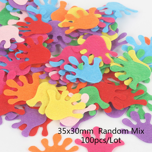 100 шт цветок/Сердце/Бабочка Нетканая фетровая ткань Войлок DIY Набор для шитья кукол скрапбук DIY ремесленные принадлежности - Цвет: Type 8