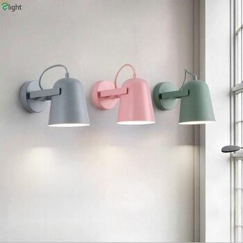 Iskandinav Macaron led duvar Lambası Yatak Odası Renkli Metal led duvar Işıkları Oturma Odası led duvar aydınlatma armatürleri Koridor Duvar Aplik