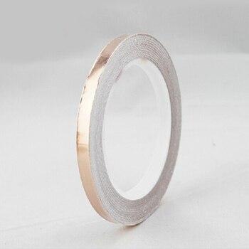 3 ~ 50mm * 25 M doble cara conducta Copper Foil EMI máscara electromagnética blindaje doble lado conductor cinta de cobre