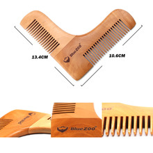 Double Gentlemen Beard Comb Wooden Shaping Template Beard Shaping Comb for Men Men Shaving Comb Tools
