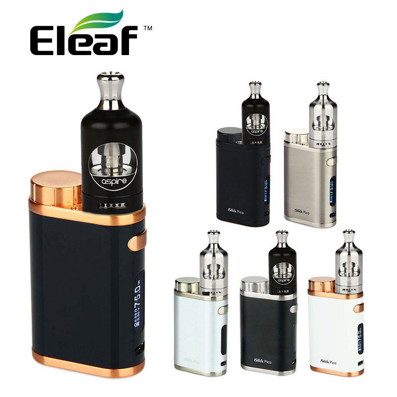 100% Original 75W Eleaf iStick Pico TC Kit 75W Eleaf iStick Pico Box Mod For Aspire Nautilus 2 Tank Atomizer 2ml E-cig Vape original smy 75w mini tc box mod