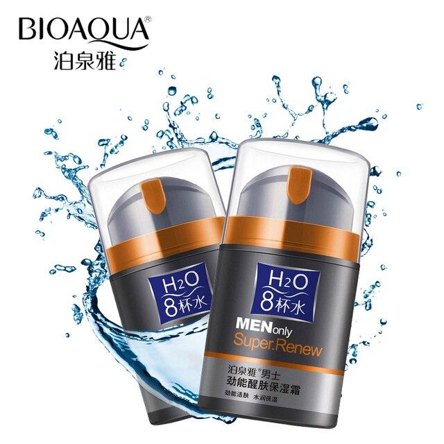 Bioaqua бренд уход за кожей мужчин глубокий увлажняющий масло-контроль крем для лица увлажняющий антивозрастной Anti Wrinkle отбеливающий день крем 50 г