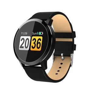 Image 3 - Q8/Q8 plus Smart Uhr OLED Farbe Bildschirm Smart Elektronik Smartwatch Mode Fitness Tracker uhr Herz Rate Bluetooth pk l8