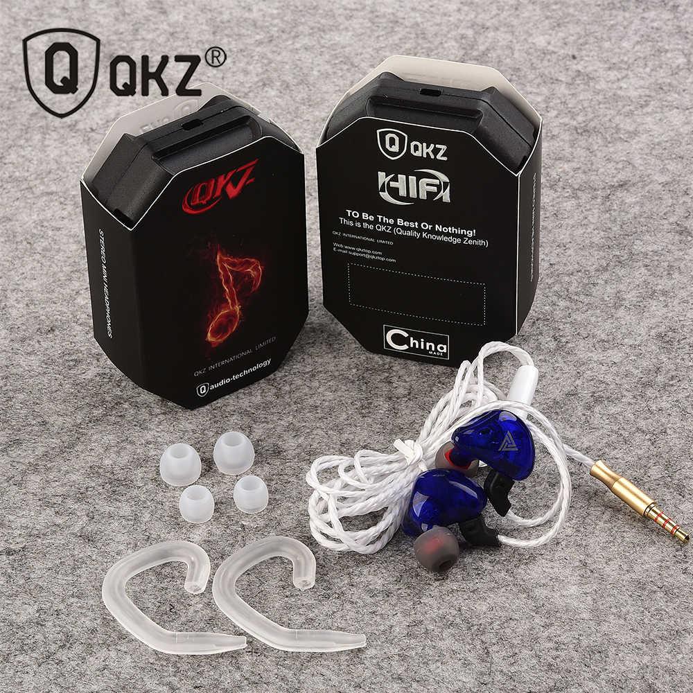 Qkz CK5 dengan Harga Murah Headphone Earphone Berkualitas Tinggi Fone De Ouvido Kulaklik Stereo Fone In Ear Monitor Bass Sport Earphone dengan mic