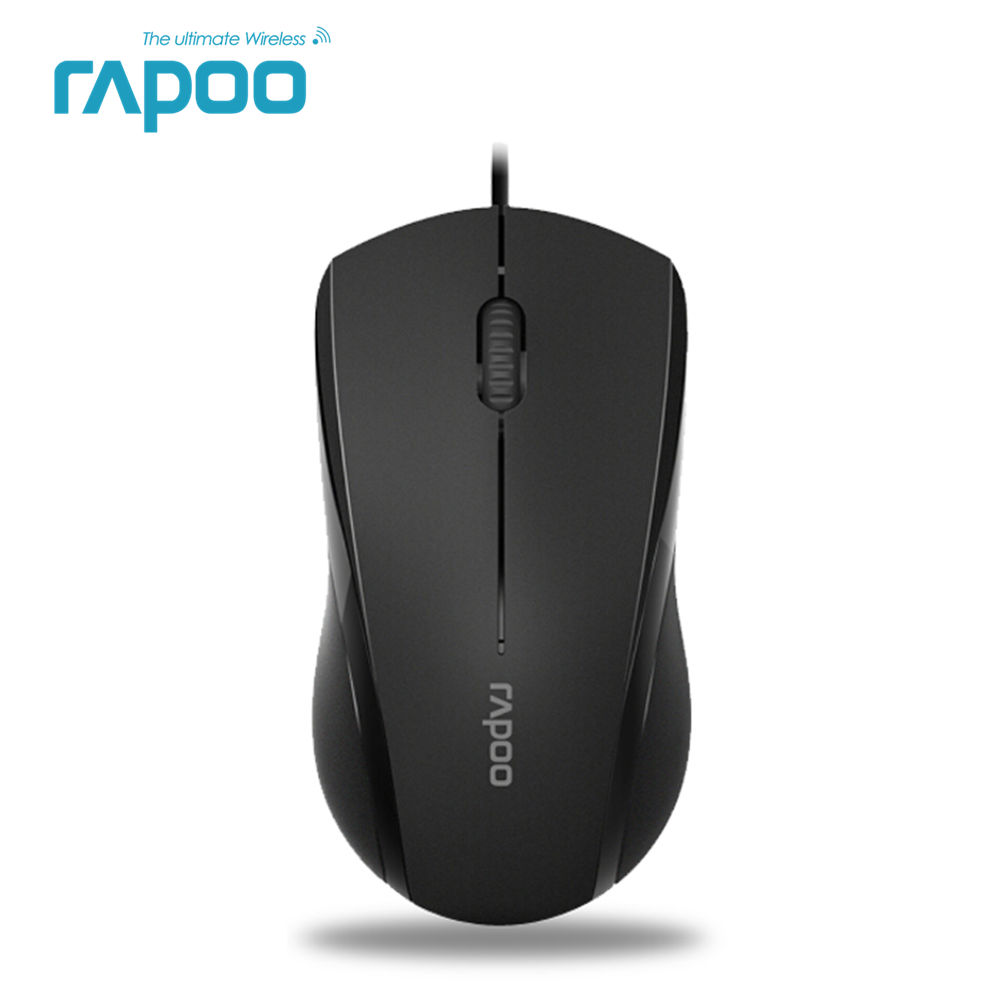 New Rapoo N1600 Wired Silent Mouse 1000DPI Optical USB Gaming Mouse for Macbook Laptop Computer genuine rapoo 1090 2 4ghz wireless 1000dpi usb optical mouse w receiver black 1 x aa