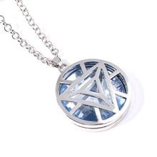 Marvel Avengers Iron Man Arc Reactor Pendant Necklace Tony Stark I Love You 3000 Times Necklaces Women Men Choker Jewelry Gift