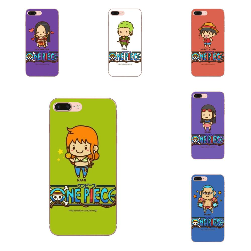 Q Version Of One Piece TPU Mobile Phone Cases For Apple iPhone X XS Max XR 4 4S 5 5C 5S SE 6 6S 7 8 Plus