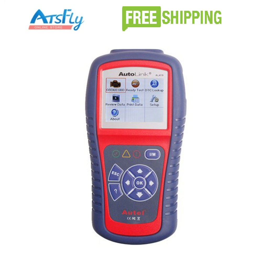 ФОТО Autel AutoLink AL419 OBD II & CAN Code Reader Auto Link AL-419