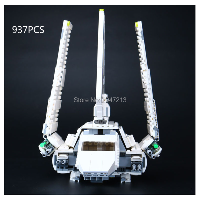 hot compatible LegoINGlys Star Wars series Building Blocks Imperial Shuttle Big white goose Warship with figures brick toys gift hot compatible legoinglys star wars series building blocks imperial shuttle warships with figures brick toys for children gift