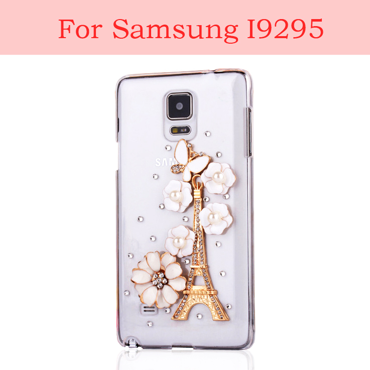For Samsung Galaxy S4 Active i9295 Case Bling Diamond Rhinestone Transparent Cover Mobile Phone Cases Wholesale Free Shipping
