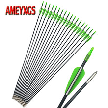 9/12pcs Archery 31.5inch Fiberglass Arrow Composite Shaft For Compound Bow Recurve Shooting Practice