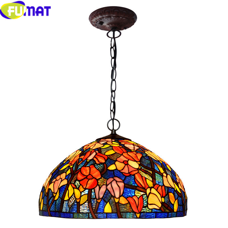 3Tiffany bombax Stained Glass Pendant Lamps