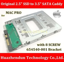 TOP SELL New 100%ORIGINAL 2.5″ SSD to 3.5″ SATA Hard Disk Drive HDD Adapter CADDY TRAY for MACPRO with 8 SCREW