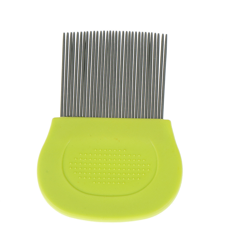 1pc Steel Grooming Tool <font><b>Pet</b></font> <font><b>Dog</b></font> <font><b>Puppy</b></font> <font><b>Cat</b></font> <font><b>Hair</b></font> <font><b>Flea</b></font> <font><b>Removal</b></font> <font><b>Cleaning</b></font> Toothed Comb