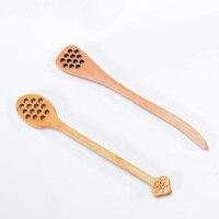 Wooden Honey jam spoons Long Handle Mixing spoon Coffee Tea Stirring Spoon Tea Spoon Kitchen Tool Flatware Accessory
