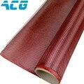 Pano da fibra de carbono kevlar híbrido vermelho 1 m X 1 m plain 200GSM/twill weave