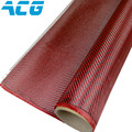 Red carbon fiber cloth kevlar hybrid 1mX1m 200GSM  plain/twill weave