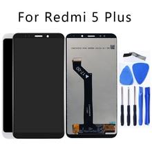 """5.99 """"xiaomi redmi 5プラスlcdディスプレイタッチスクリーンデジタイザー交換アクセサリーredmi 5プラス電話部品修理キット"""