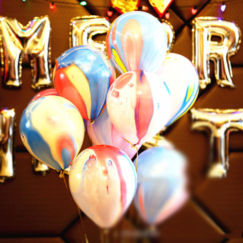 Thicken Agate Marble Balloon Multicolor Bachelorette Party Balloons Birthday Baloon Baby Shower Decoration Kids Party Supplie Karachi