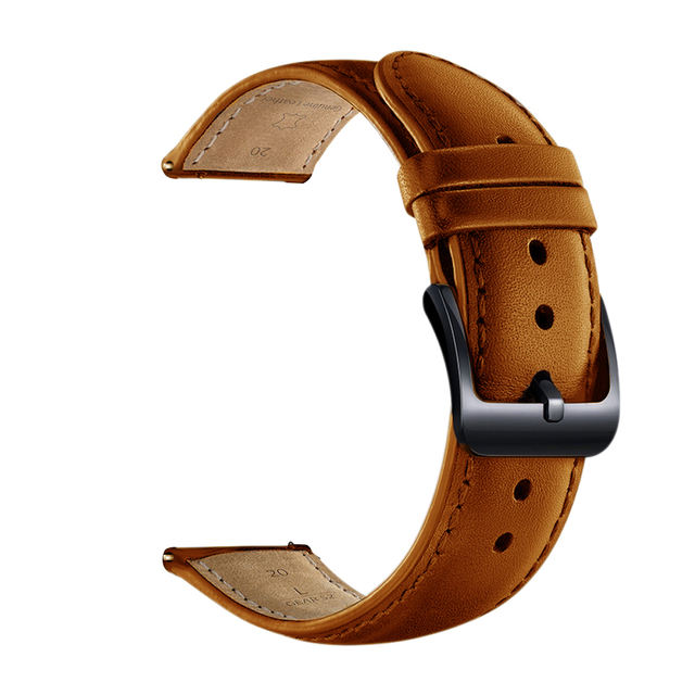 DKPLNT Black Buckle Genuine Leather for Xiaomi huami Amazfit Bip BIT PACE Lite Youth Watch Band strap fitness bracelet 1