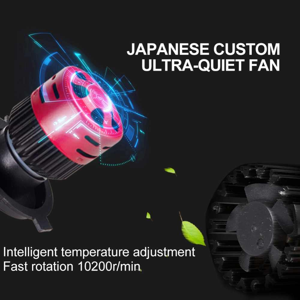 Foxcnsun 1PCS Send a gift link H4 LED H7  H1 H3 H8 H9 H11 9005 9006 9012 Mini Car Headlight Bulb Hi Lo Beam H4 8000LM 72W 6500K