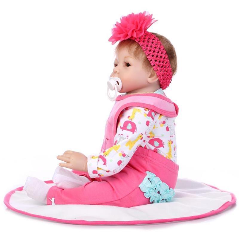 Kawaii baby dolls Mini Cute Fashion Cartoon Reborn Baby Doll high quality Gifts Soft Silicone Gift Stuffed Toys
