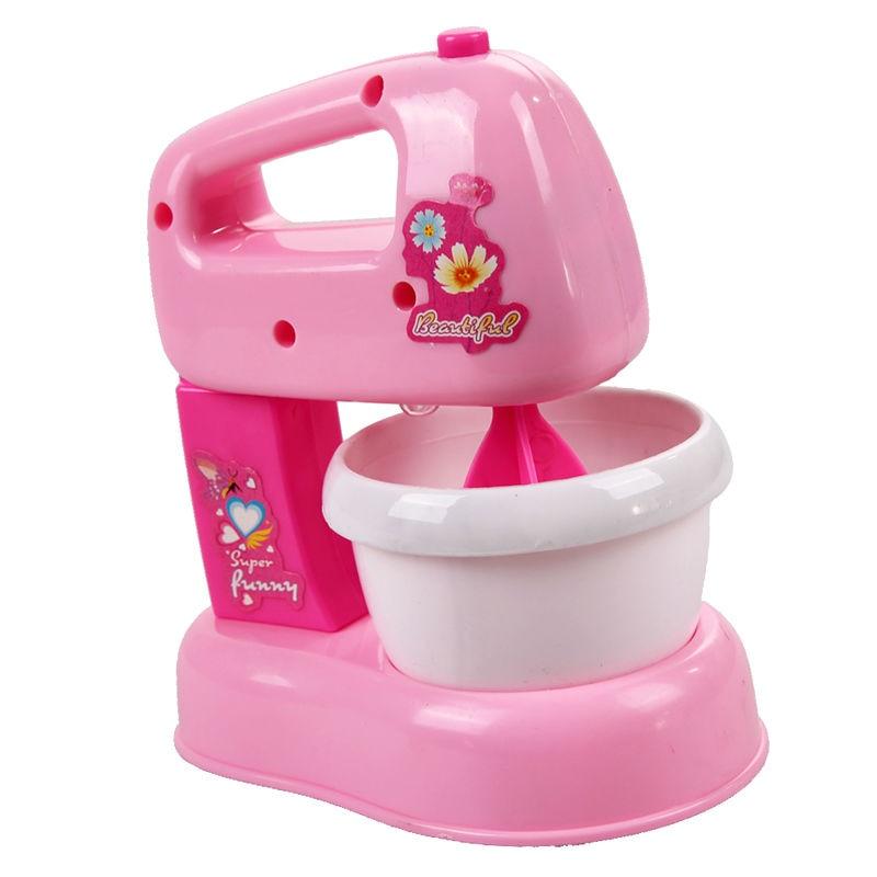 Simulado Elétrica Liquidificador o Suco com DIODO EMISSOR de Luz Do Bebê Pretend Play Toy Fun Líquido Misturador Crianças Meninas Brincar de Casinha de Brinquedo de Plástico