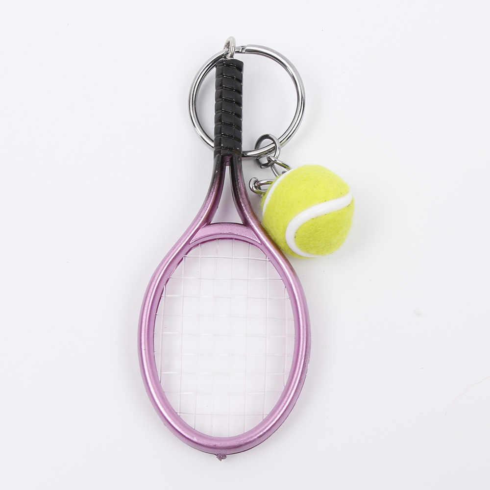 Venda quente mini raquete de tênis pingente chaveiro chaveiro chaveiro chaveiro chaveiro localizador holer acessórios para presentes do dia do amante